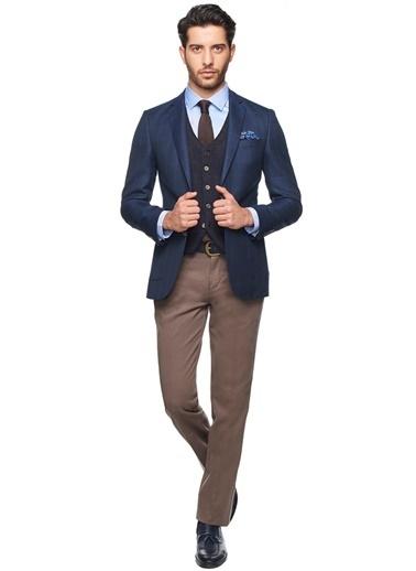 Altınyıldız Classics Kareli Blazer Ceket Lacivert